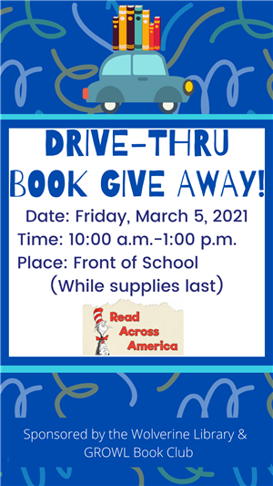 Drive-Thru Book Give Away